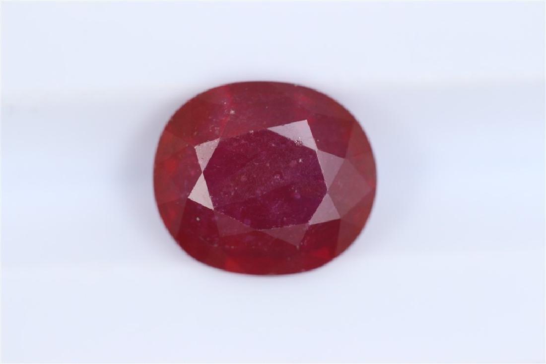 3.44ct Ruby Oval cut