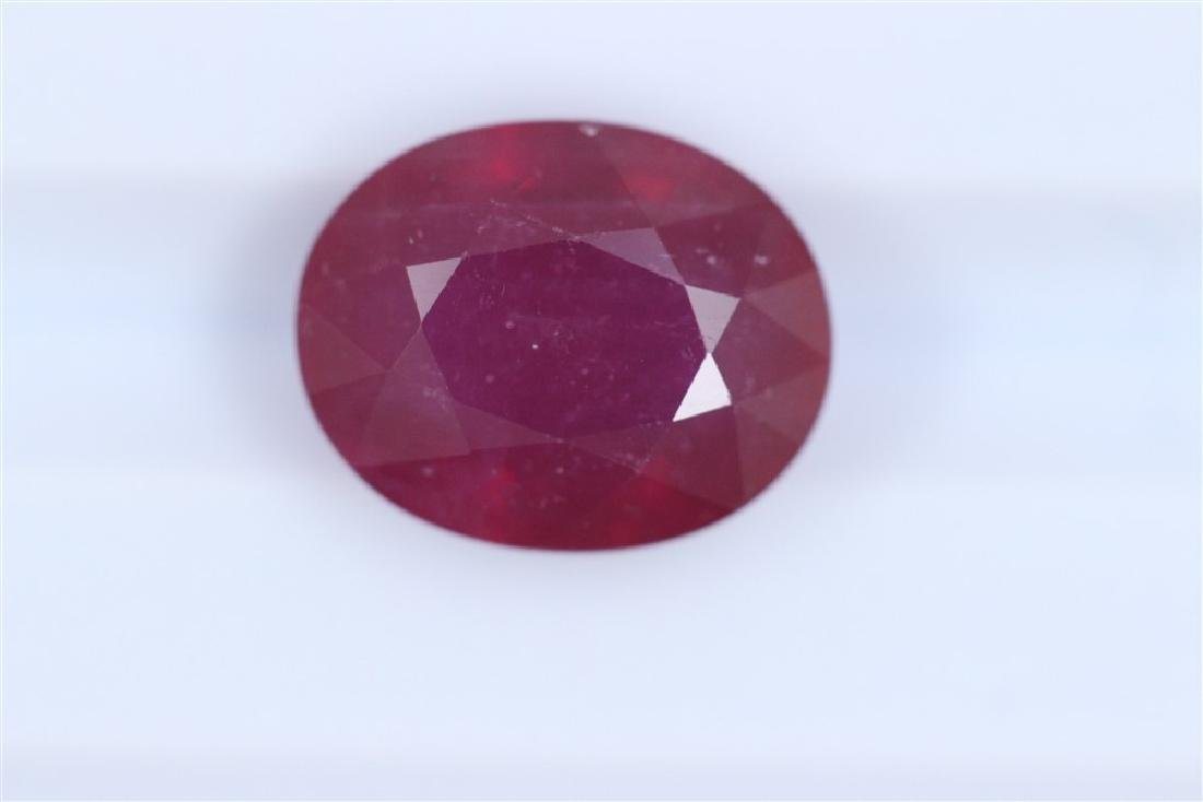 3.9ct Ruby Oval cut