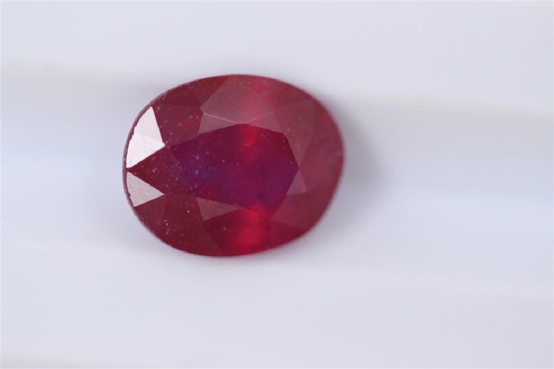 3.28ct Ruby Oval cut