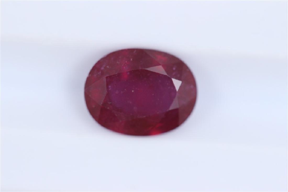 2.6ct Ruby Oval cut