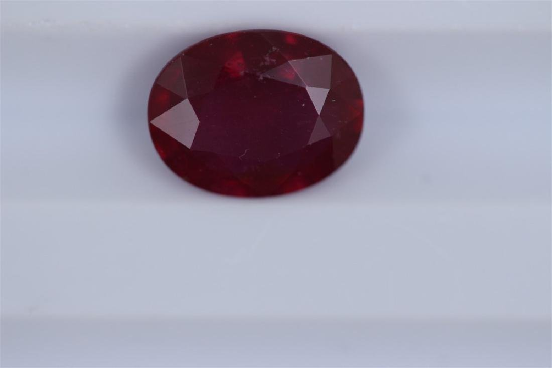 2.46ct Ruby Oval cut
