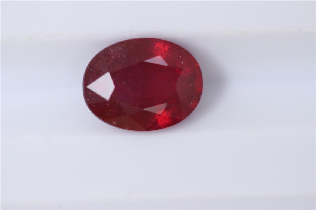 2.63ct Ruby Oval cut