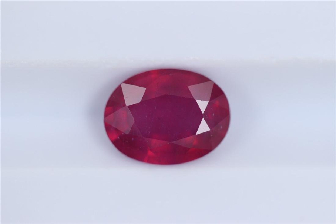 2.22ct Ruby Oval cut