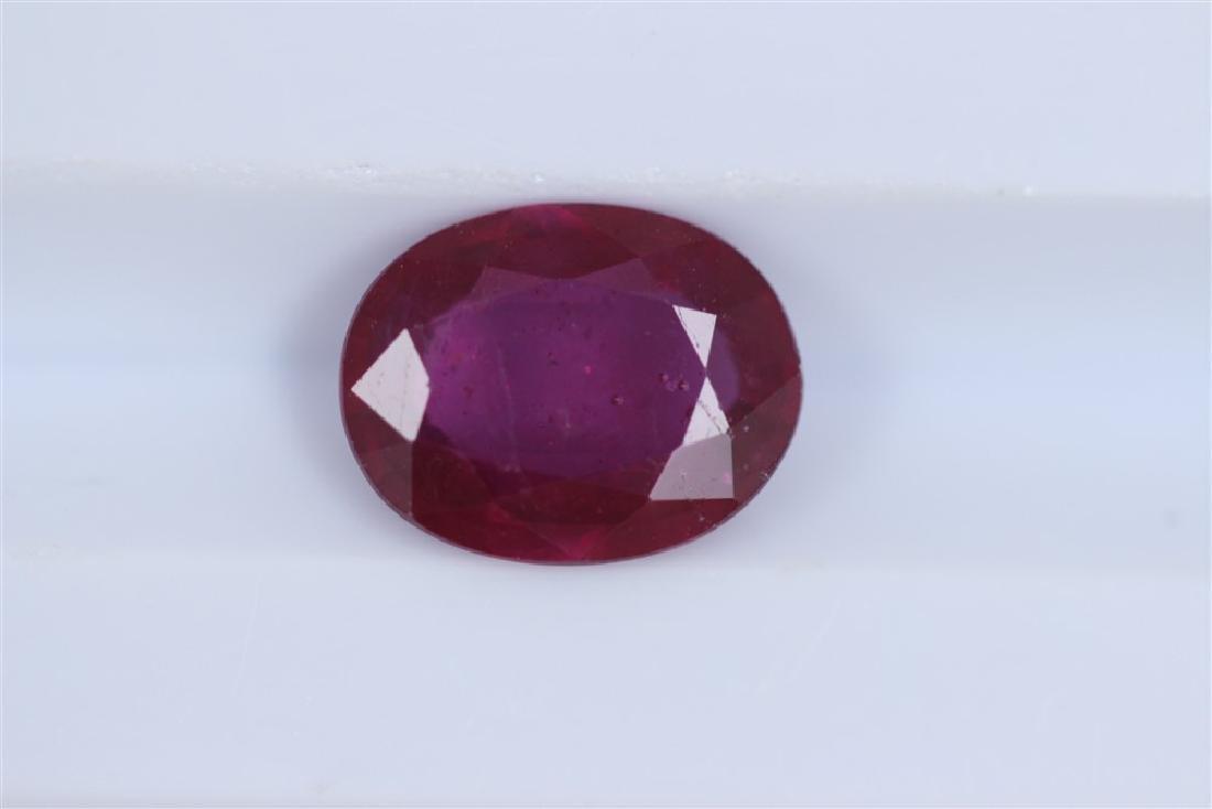 2.07ct Ruby Oval cut