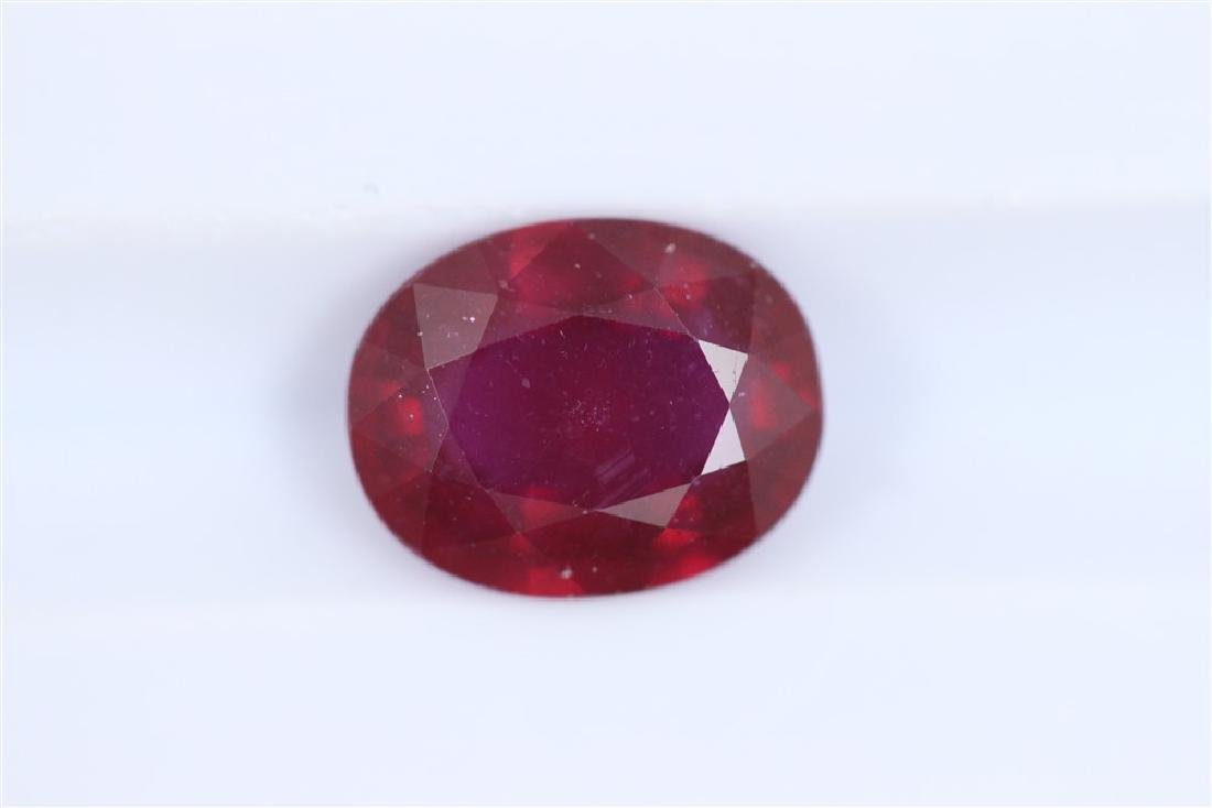 2.58ct Ruby Oval cut