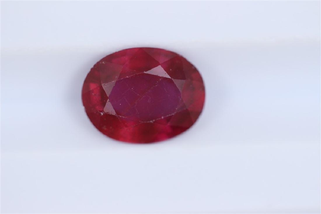 2.06ct Ruby Oval cut