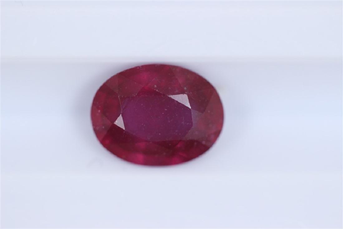 2.22ct Ruby Oval cut