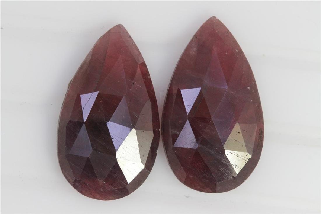 32.22ct GIA Approved Ruby sapphire slice Pear cut