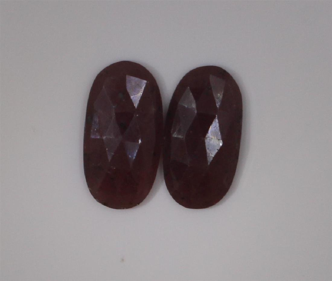 23.27ct GIA Approved Ruby Slice 2pcs Oval cut