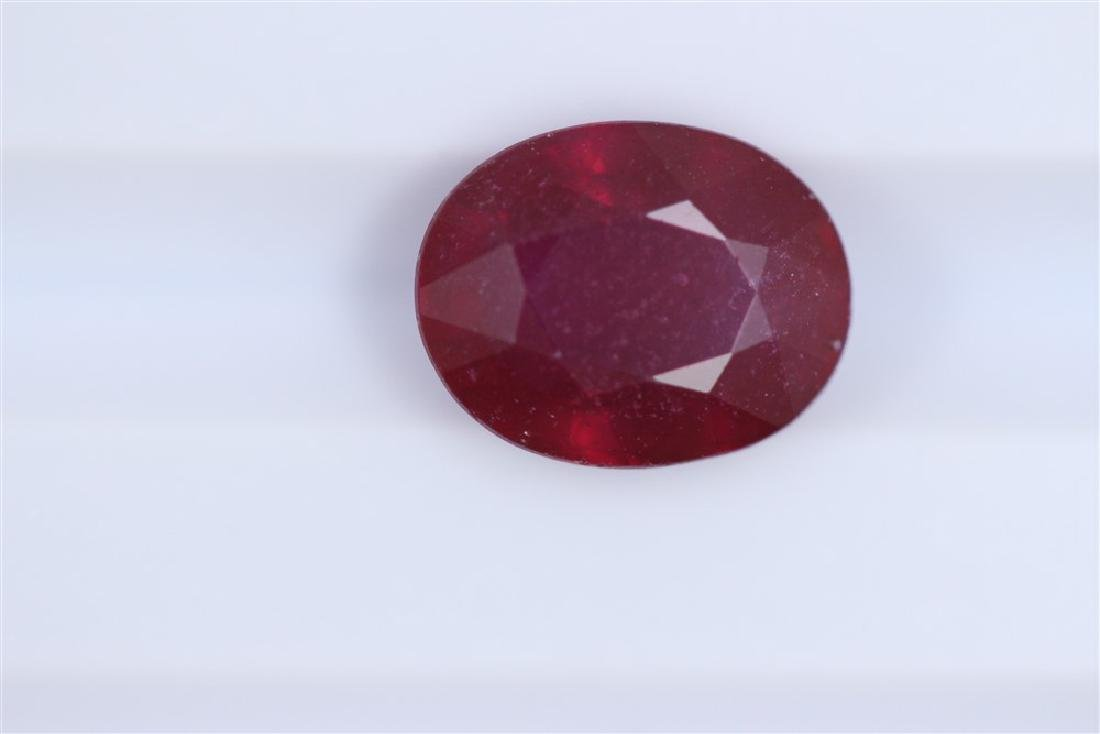 2.86ct Ruby Oval cut