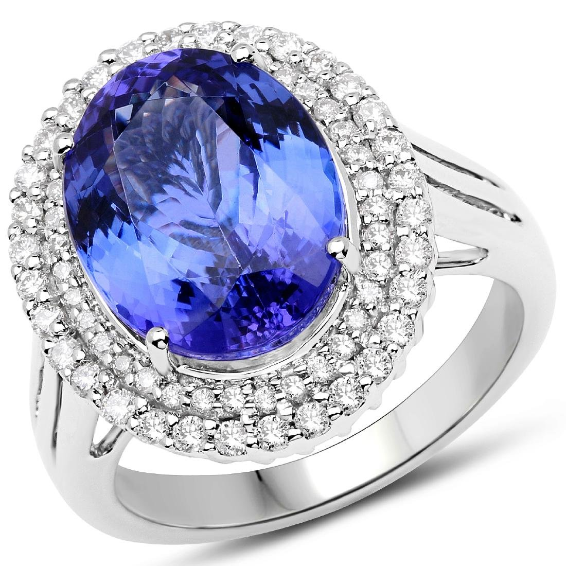 7.08ct Tanzanite 14K White Gold Ring