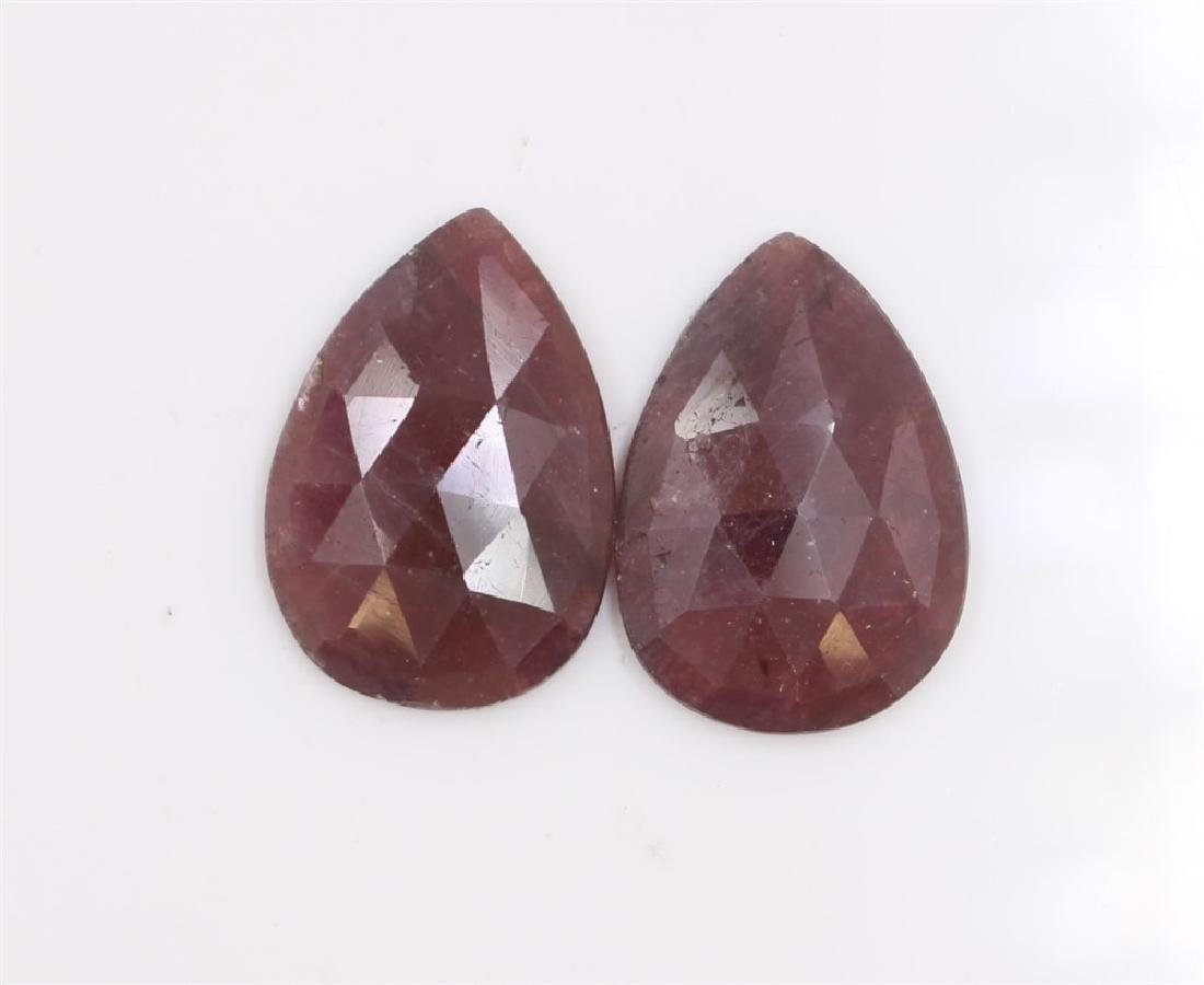 30.22ct GIA Approved Ruby Slice Pear cut