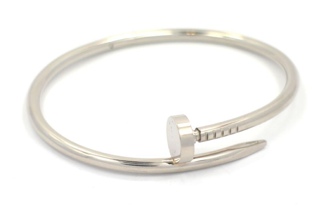 Cartier 18k White Gold Juste Un Clou Bracelet WG