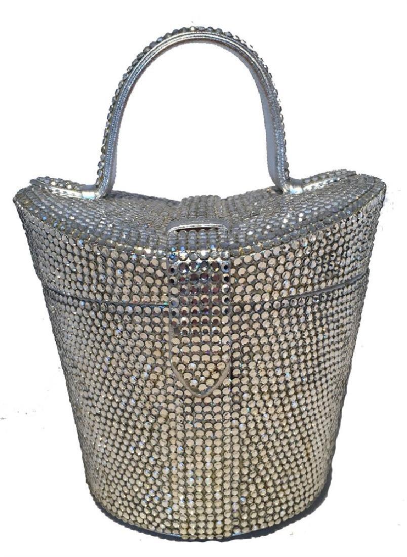 Judith Leiber Vintage Swarovski Crystal Basket Evening