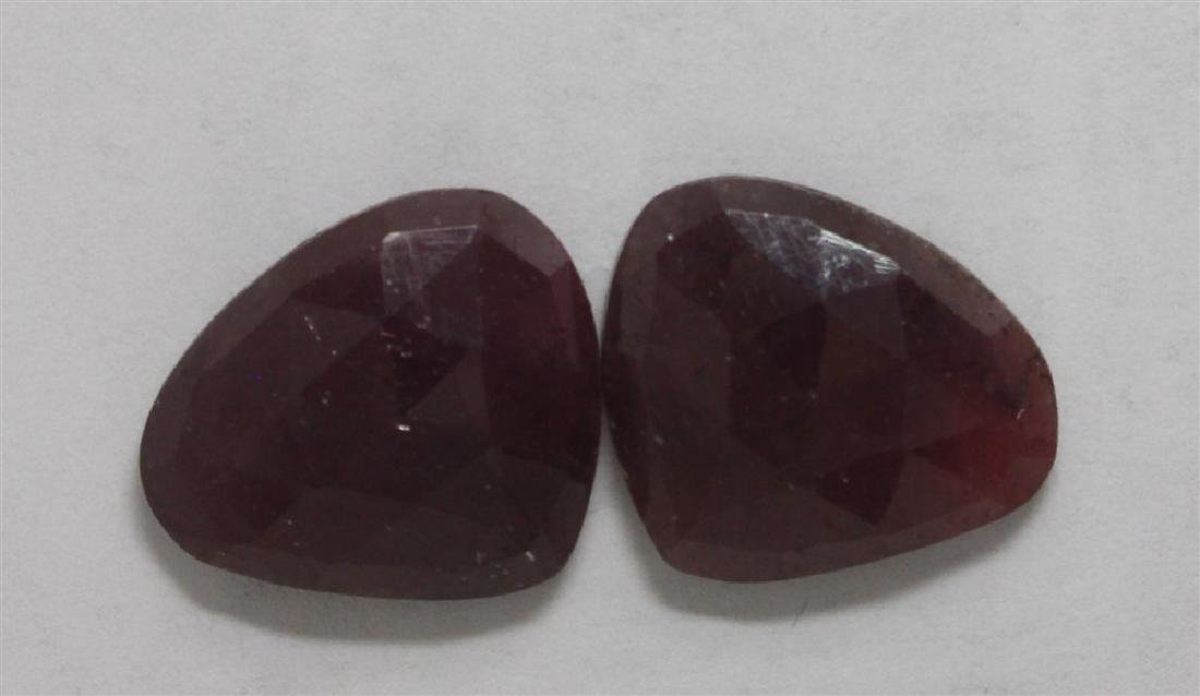 26.8ct GIA Approved Ruby Slice 2pcs Fancy cut