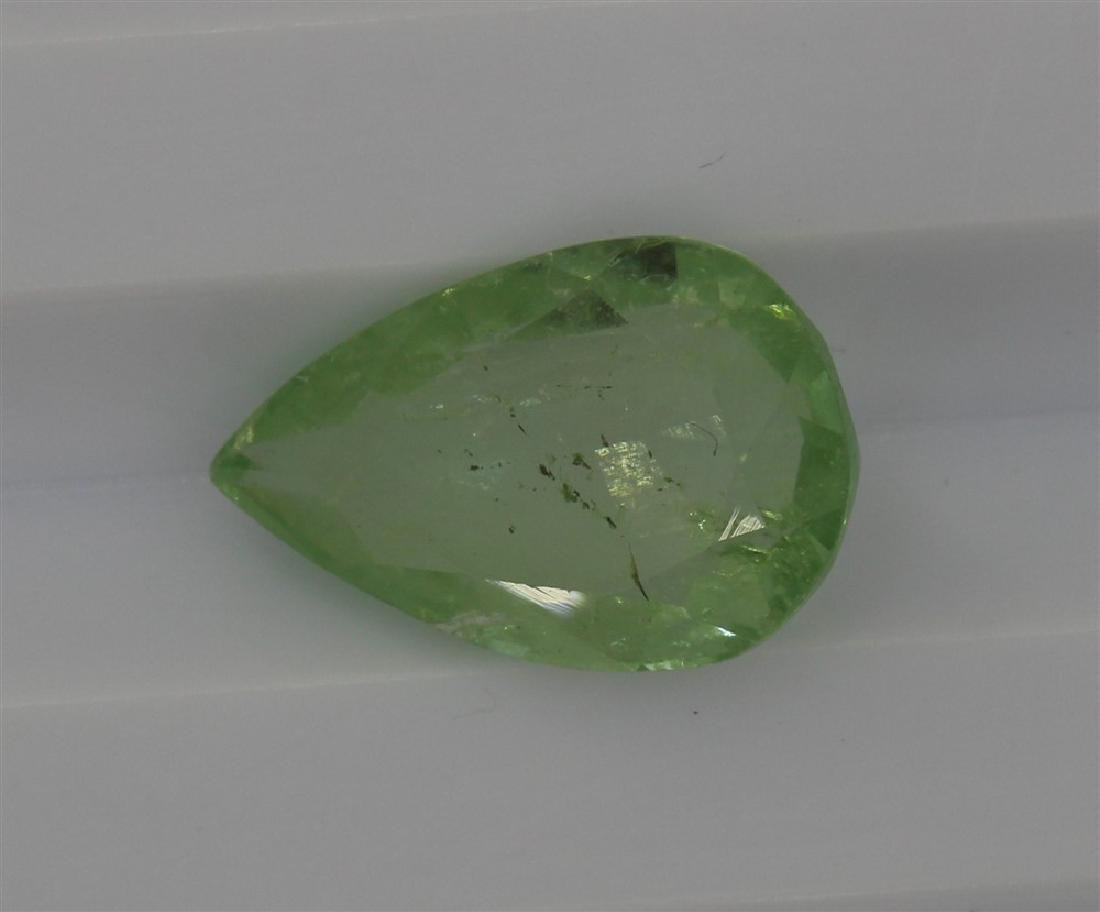 3.1ct Light Green Tourmaline Pear cut
