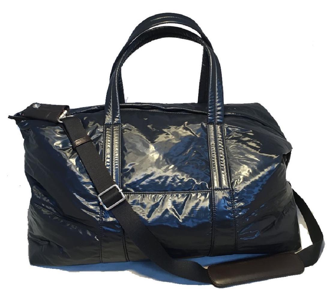 NWOT Maison Margiela Navy Blue Vinyl and Leather Duffle