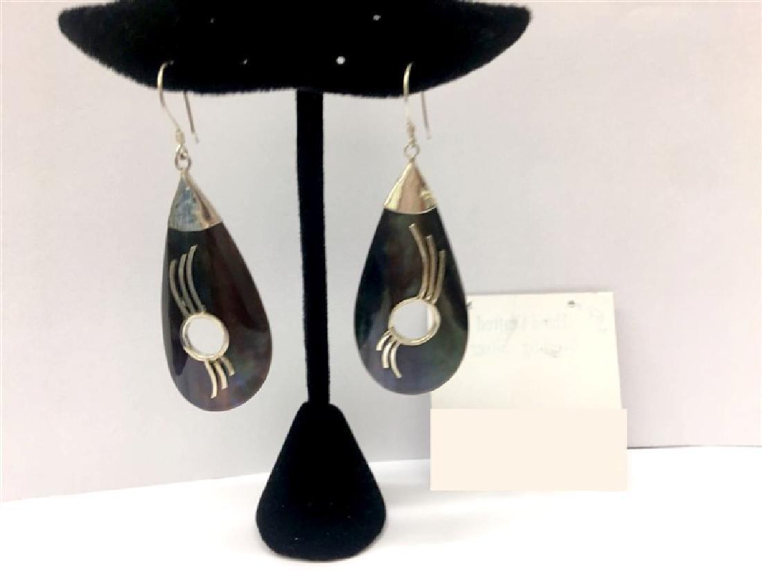 Sterling Silver W / Shell Drop Earring