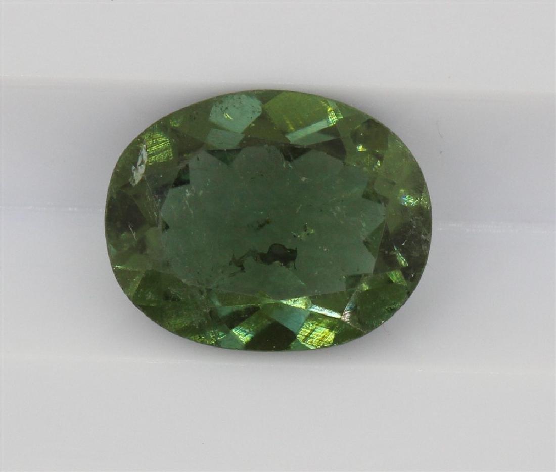 1.68ct Dark Green Tourmaline Rectangle cut