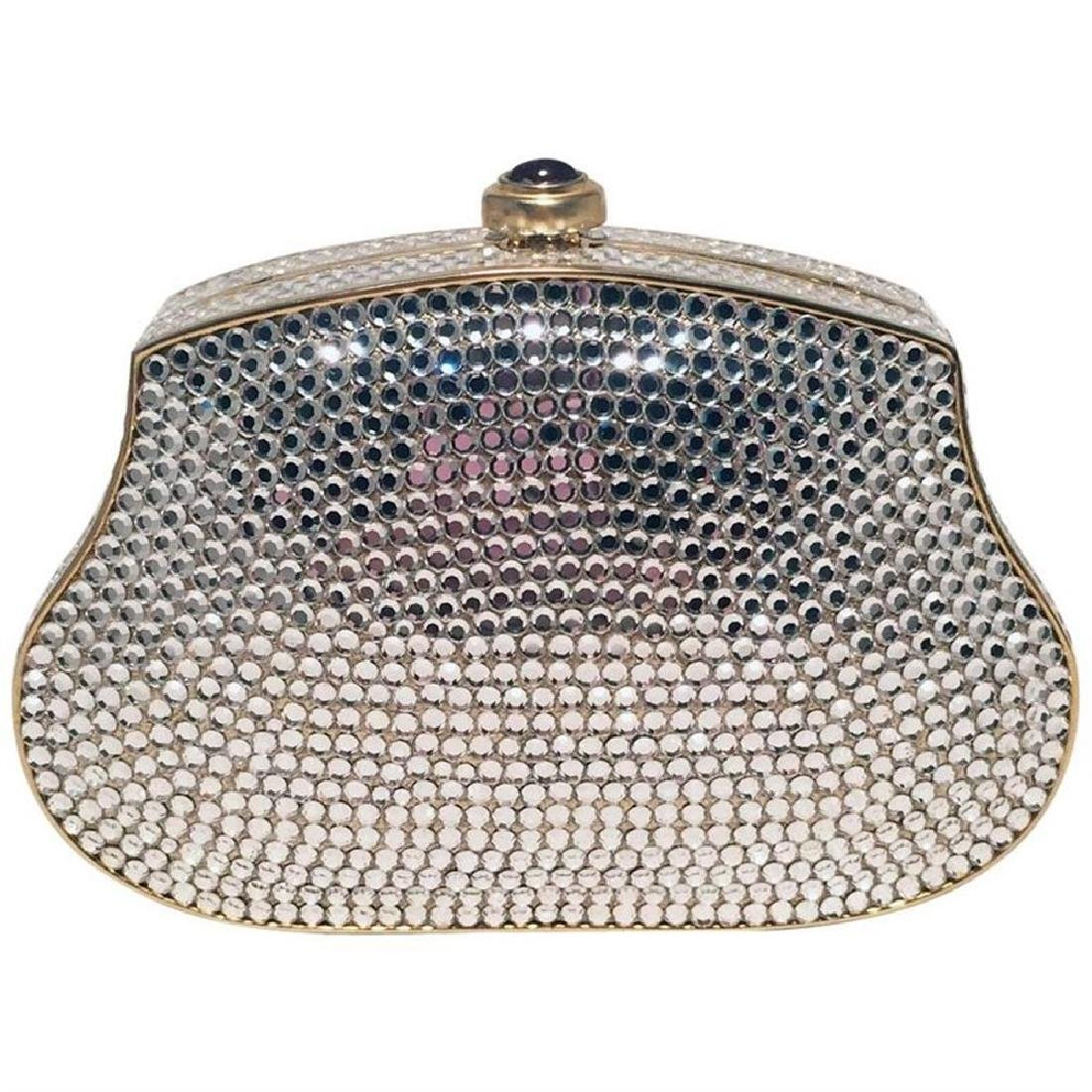 Judith Leiber Clear Swarovski Crystal Mini Minaudiere