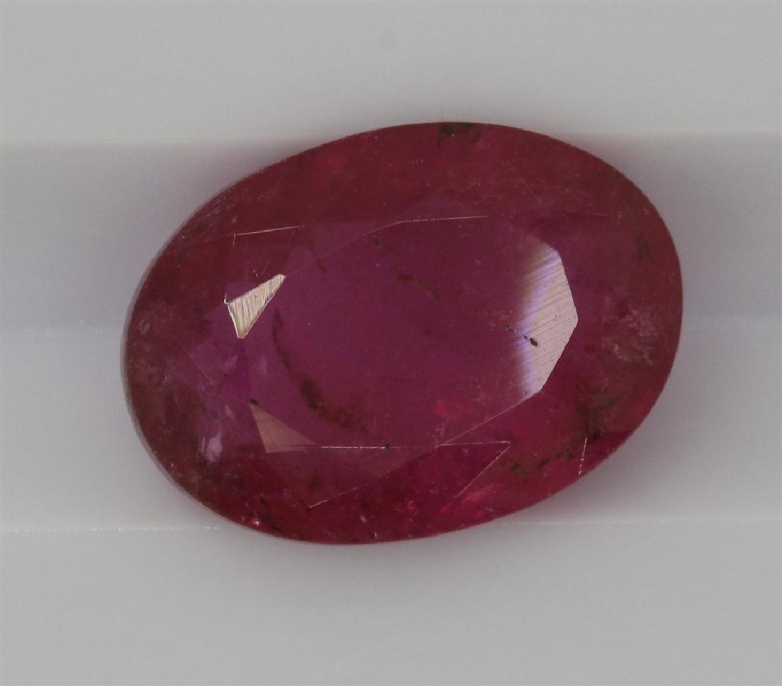 2.8ct Dark pink Tourmaline Oval cut