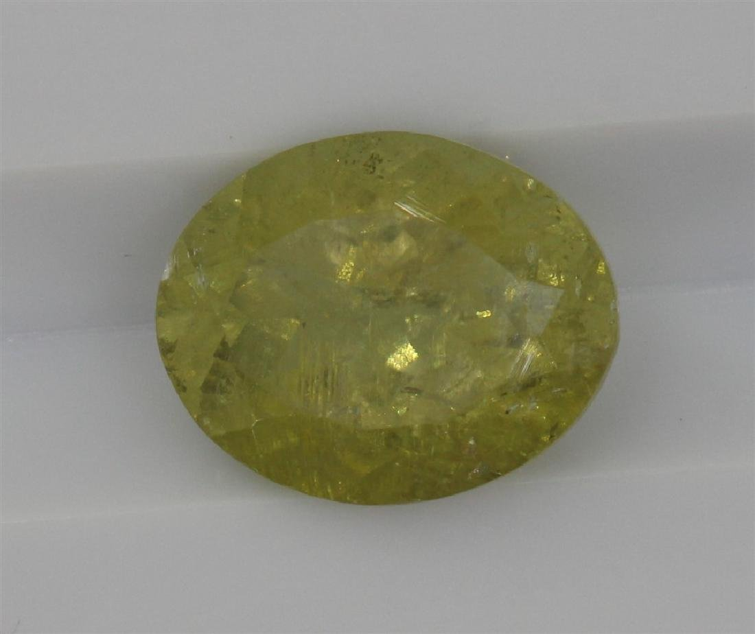 2.68ct Light Green Tourmaline Oval cut