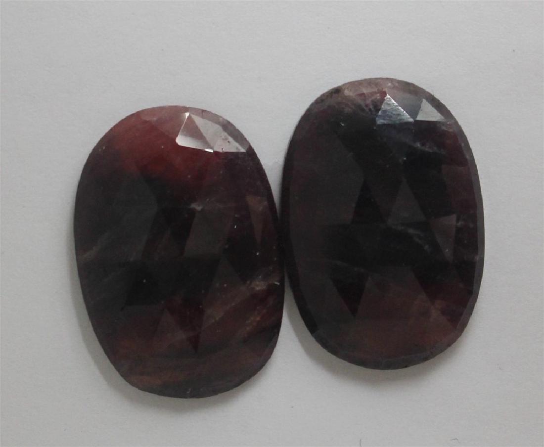 60.14ct GIA Approved Ruby sapphire slice Oval cut