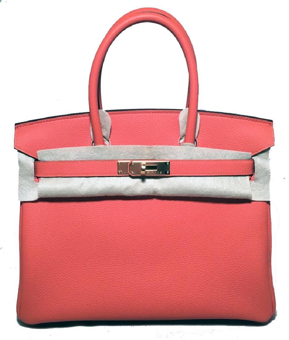 NEW-NWOT Hermes 30cm Feu Togo Leather Birkin Bag
