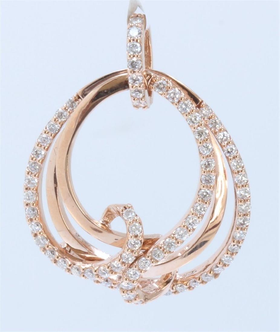 14k Rose Gold Diamond Pendant:5