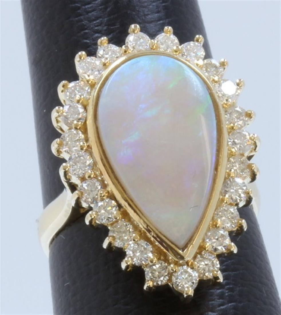Opal:3.4ct/14K Ring:6.64g/Diamond:0.98ct