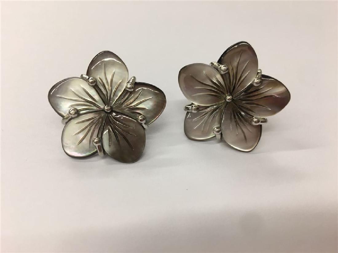 Black Shell .925 Sterling Silver Earring