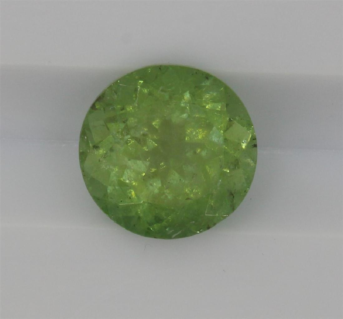 2.45ct Light Green Tourmaline Round cut