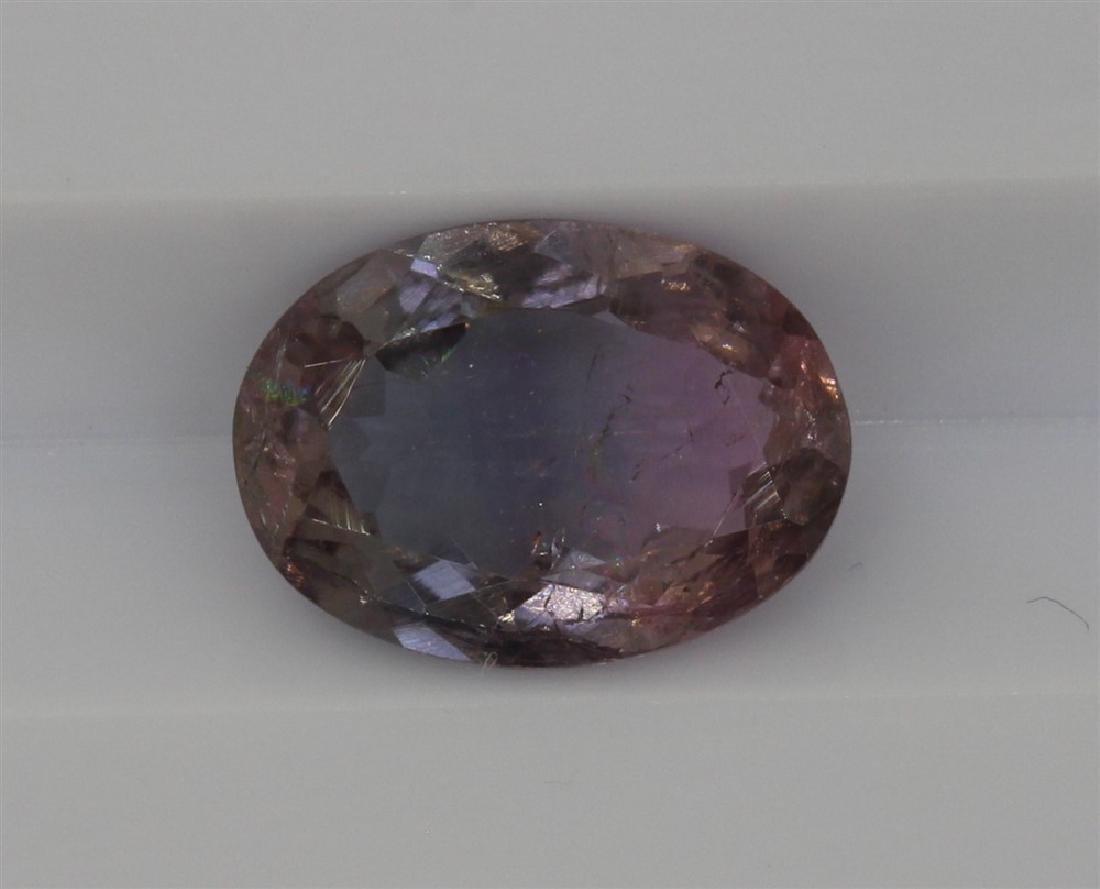 1.42ct Light Grey to light pink tourmaline Oval cut