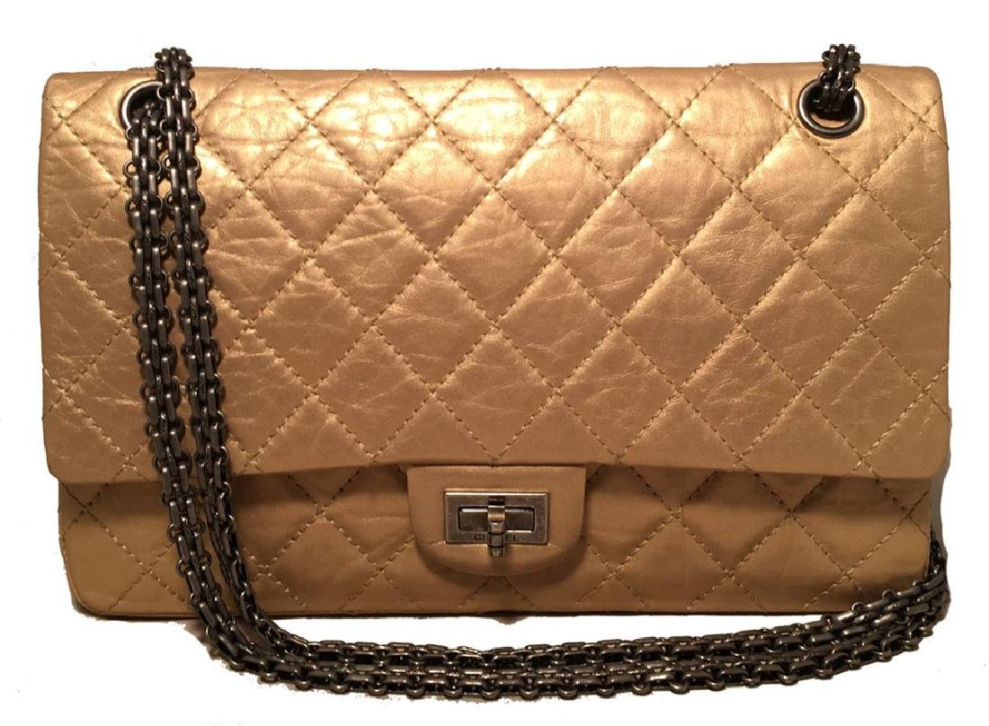 Chanel Gold Leather 2.55 Reissue 226 Double Flap