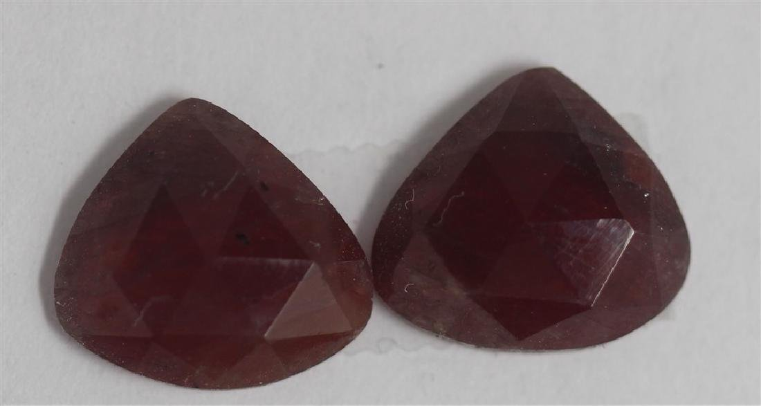 8.24ct GIA Approved Ruby Slice 2pcs Pear cut