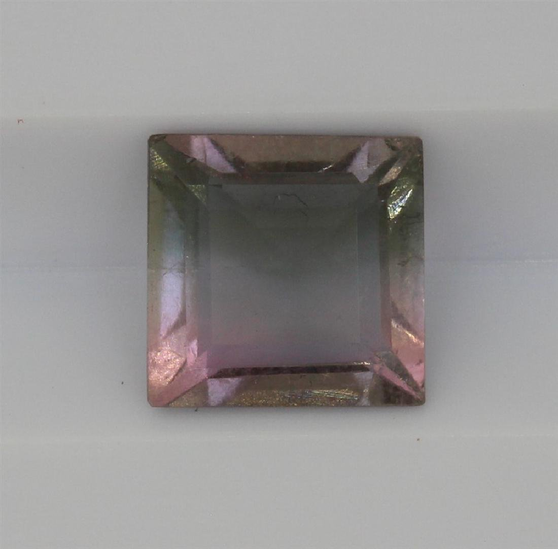 1.05ct Light Grey to light pink tourmaline Square cut