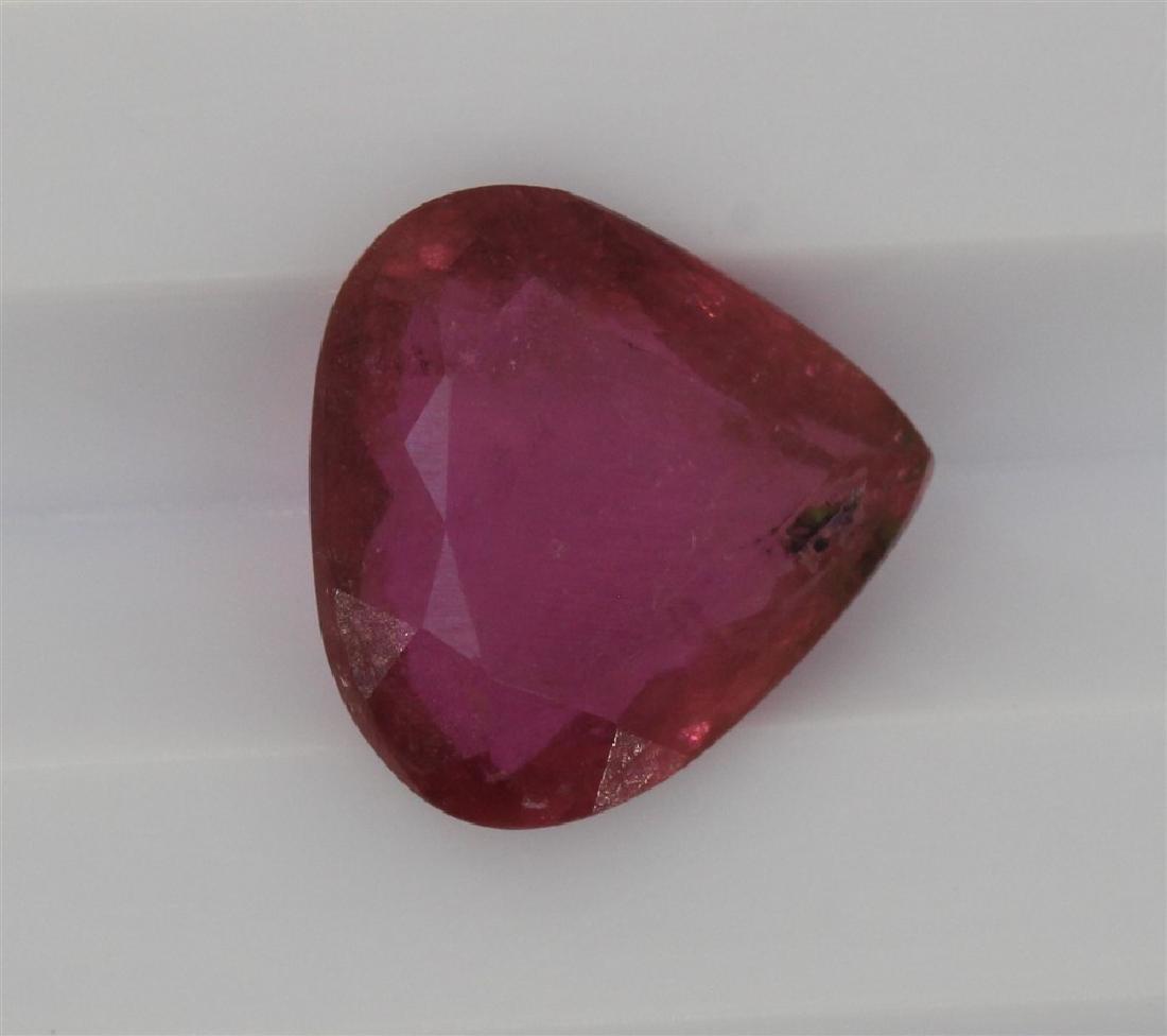 3.09ct Dark pink Tourmaline Pear cut