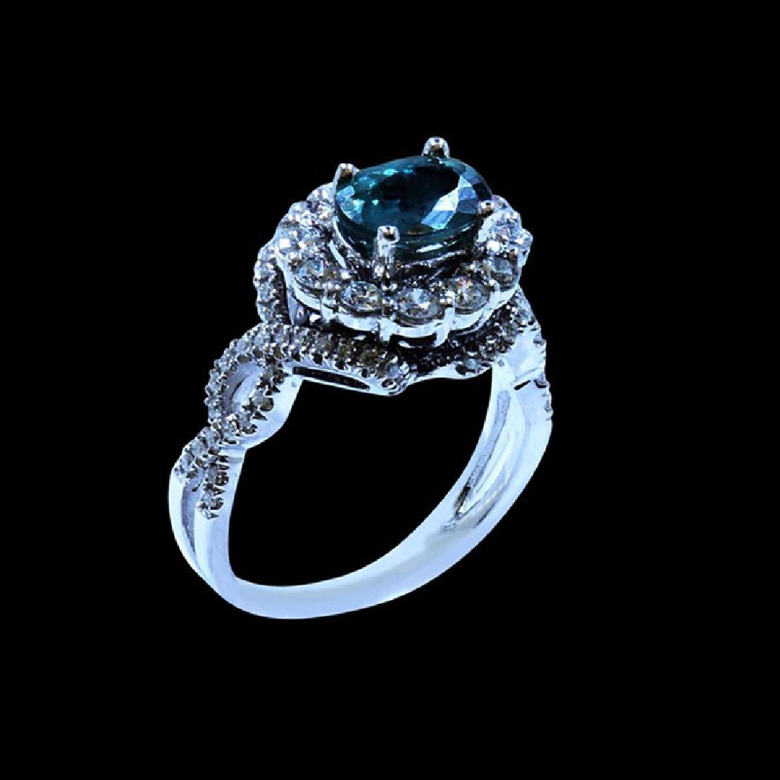 1.74CT NATURAL ALEXANDRITE 18K W/G RING