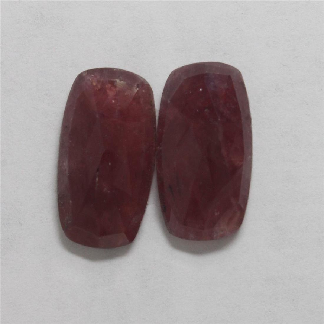 27.1ct GIA Approved Ruby Slice 2pcs Rectangle cut