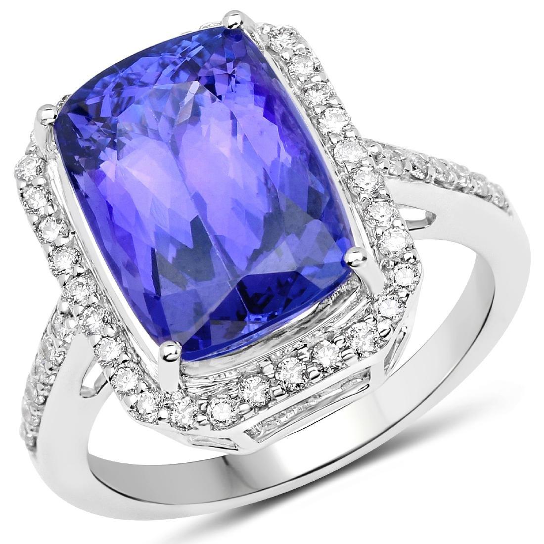 6.72ct Tanzanite 14K White Gold Ring