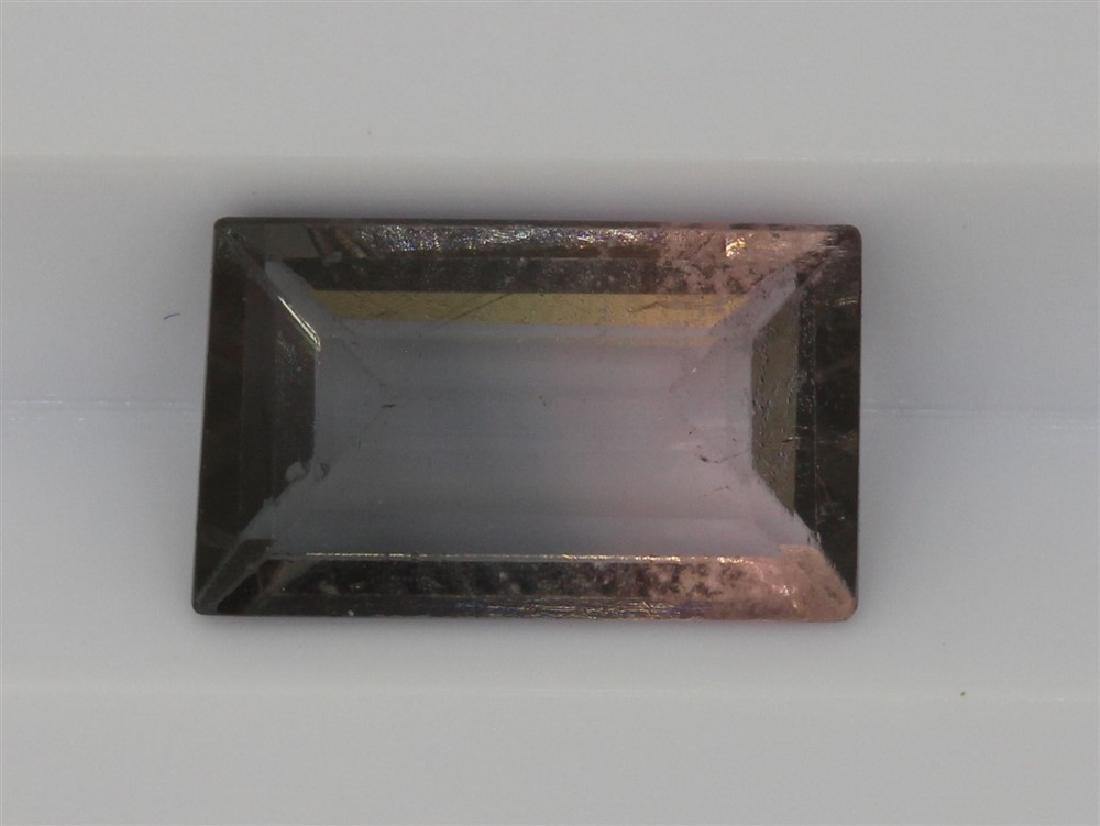 1.38ct Light Grey to light pink tourmaline Rectangle