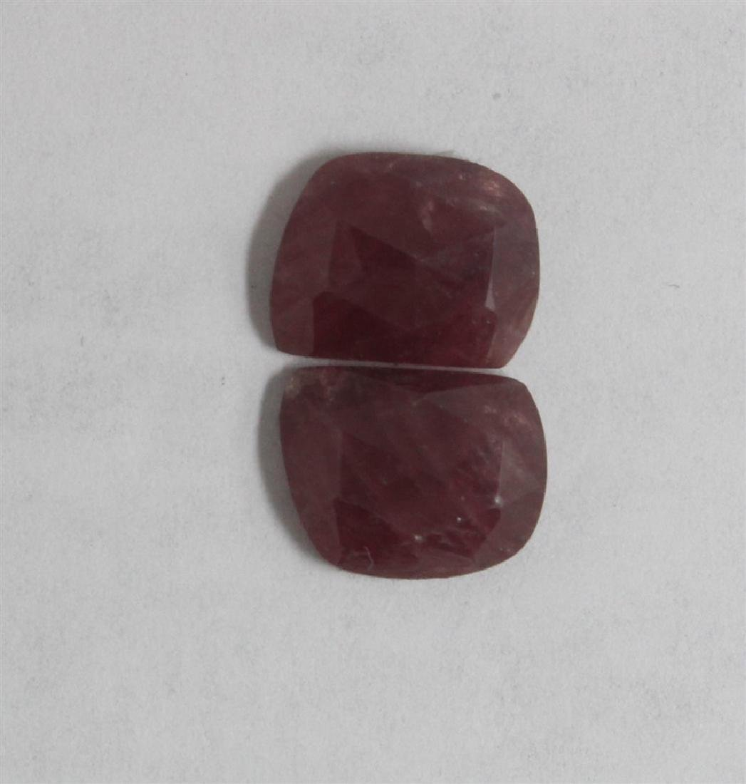 12.96ct GIA Approved Ruby Slice 2pcs Fancy cut