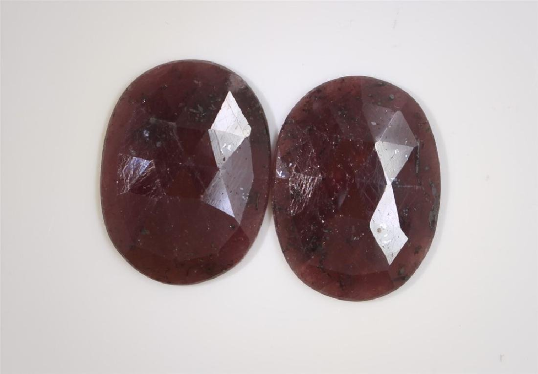 58.7ct GIA Approved Ruby sapphire slice Oval cut