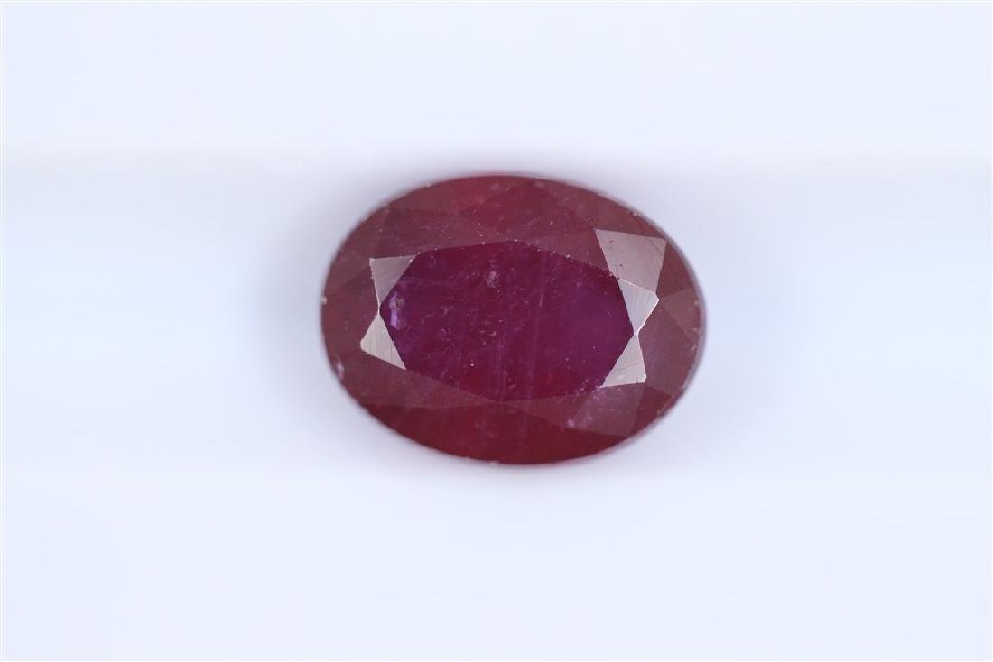 3.06ct Ruby Oval cut