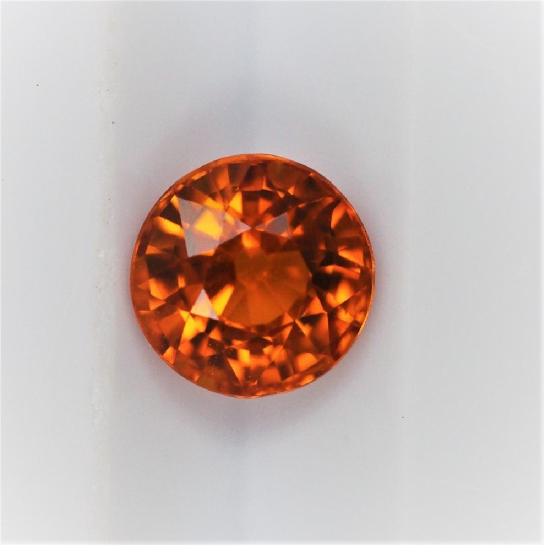 1.24ct Orange Sapphire Round cut