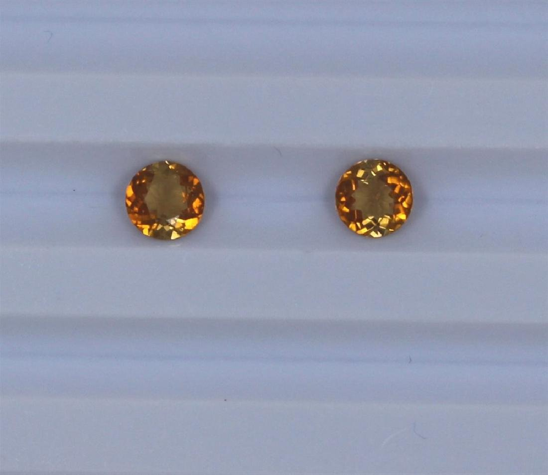 1.08ct Yellow Tourmaline match pair Round cut