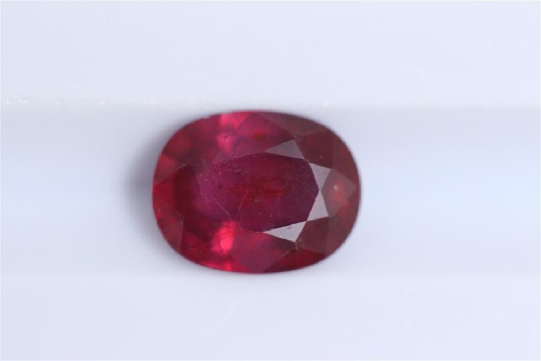 2.04ct Ruby Oval cut