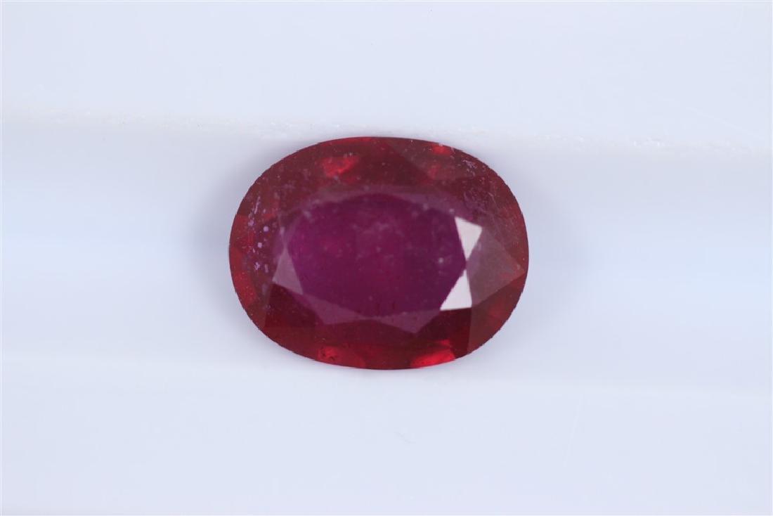 2.18ct Ruby Oval cut