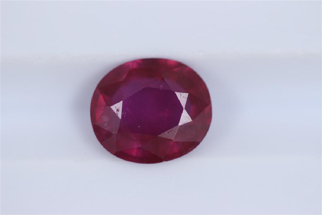 2.42ct Ruby Oval cut