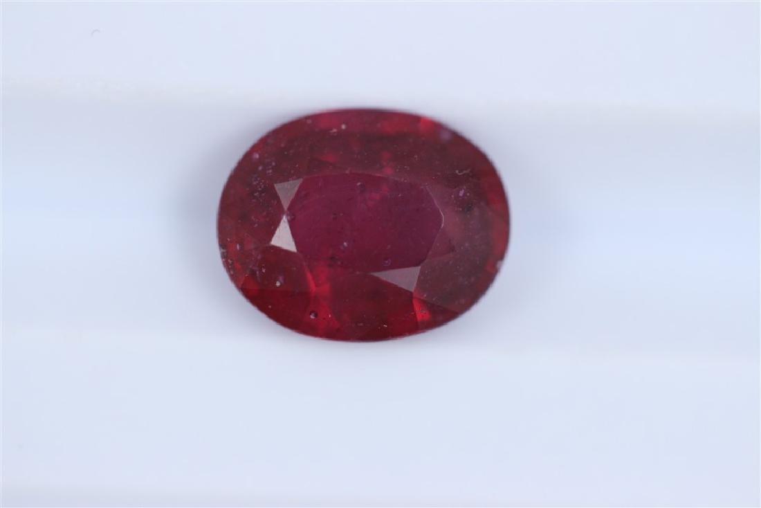 2.67ct Ruby Oval cut